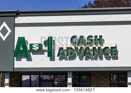 Indianapolis - Circa November 2016: A-1 Cash Advance Mall Location. A-1 Cash Advance is a Payday Loan Company I