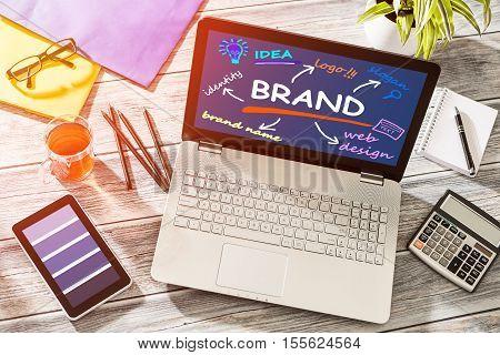 Brand Branding Design Marketing Drawing Concept - Stock Image