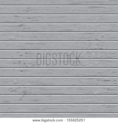 Vector gray wood texture deck. Boards with wooden pattern. Flat view. Stock illustration