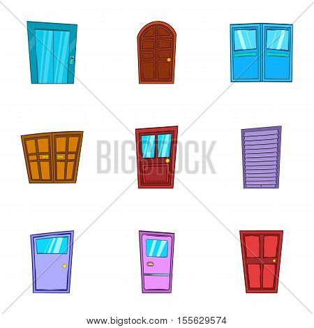 Opening icons set. Cartoon illustration of 9 opening vector icons for web