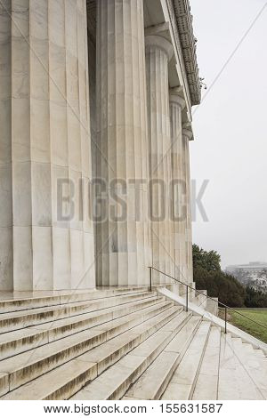 Washington D.C. USA - January 9 2016: The Lincoln Memorial