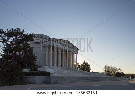 Washington D.C. USA - January 15 2016: The Thomas Jefferson Memorial