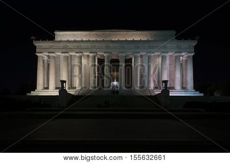 Washington D.C. USA - January 19 2016: The Lincoln Memorial