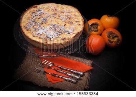 Persimon And Almonds Cake