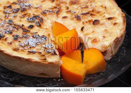 Persimmon Cake Closeup
