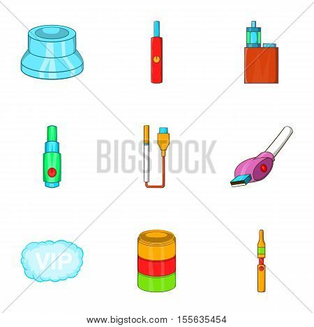 Tobacco icons set. Cartoon illustration of 9 tobacco vector icons for web