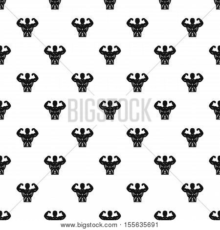 Athletic man pattern. Simple illustration of athletic man vector pattern for web