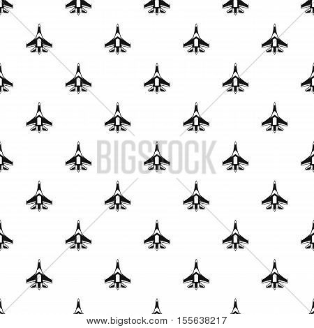 Jet fighter plane pattern. Simple illustration of jet fighter plane vector pattern for web