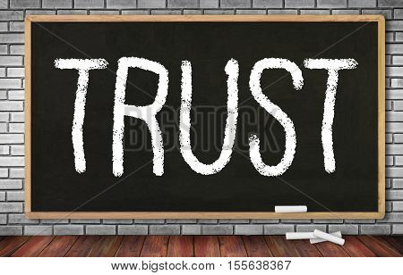 TRUST Business Concept and TRUST FUND announcement