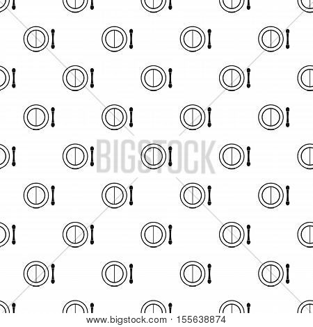 Shadow kit and applicator pattern. Simple illustration of shadow kit and applicator vector pattern for web