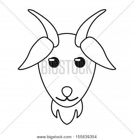 Goat icon. Livestock animal life nature and fauna theme. Isolated design. Vector illustration