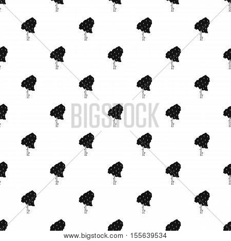 Birch pattern. Simple illustration of birch vector pattern for web