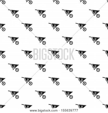 Wheelbarrow pattern. Simple illustration of wheelbarrow vector pattern for web