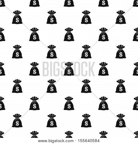 Money bag pattern. Simple illustration of money bag vector pattern for web
