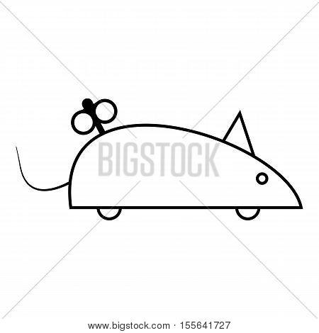Clockwork mouse icon. Outline illustration of clockwork mouse vector icon for web design