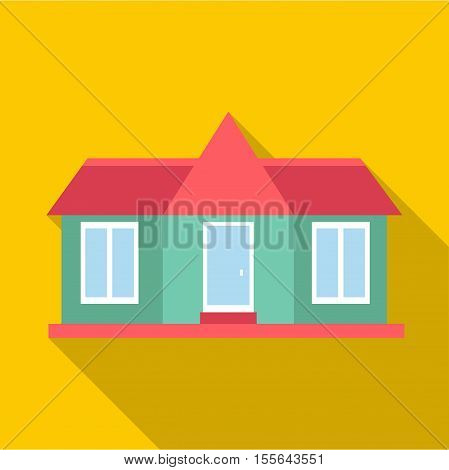 Suburban american house icon. Flat illustration of house vector icon for web design