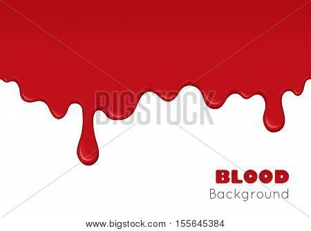 Background With Drips Of Blood.