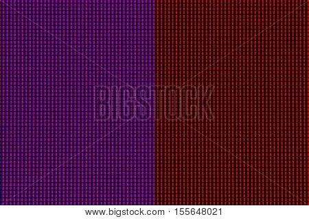 Closeup LED diode of LED TV or LED monitor screen display panel. Colorful LED screen background for design with copy space for text or image.