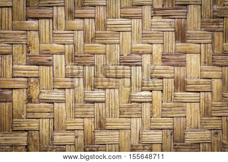 Bamboo weave texture pattern or bamboo weave background from handmade crafts basket for design with copy space for text or image.
