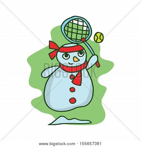 Snowman style character vector art collection stock