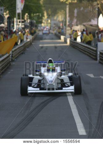 Formula Car On City Circuit