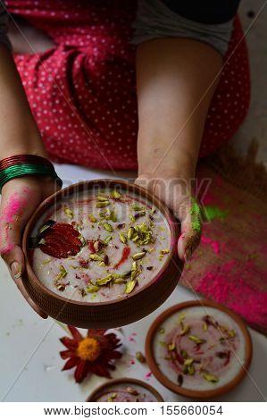 Chawal ki kheer / Milk and rice pudding