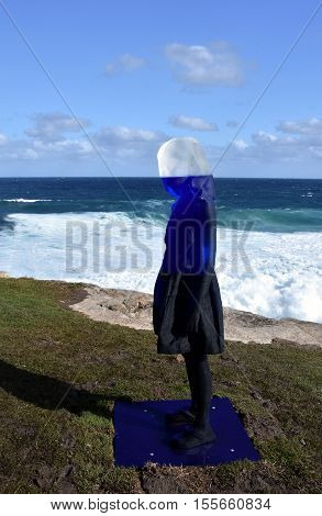 Sydney Australia - Oct 23 2016. Alessandra Rossi: Untitled Coral. Sculpture by the Sea along the Bondi to Coogee coastal walk is the world's largest free to the public sculpture exhibitions.