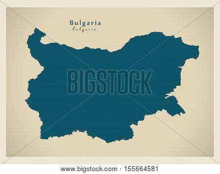Modern Map - Bulgaria BG vector illustration