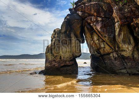 Rock On Tajor Beach In Bako National Park