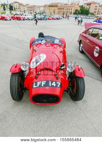 Padua, Italy - September 19, 2014: Benefit Antique Classic Car Show at Padua at September 19, 2014. Cars and enthusiasts from all over Italy.
