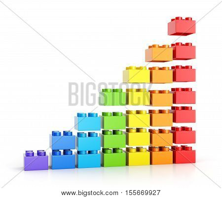 Grouth Diagram Made Of Toy Blocks