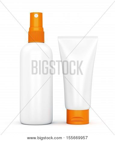 Sunscreen Spray And Cream Tube