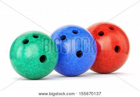Three Bowling Balls