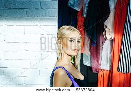 Pretty Sexy Girl In Wardrobe