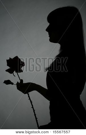 Girl with the rose
