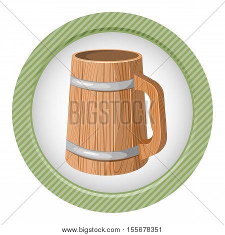 Illustration Of Wooden Beer Mug