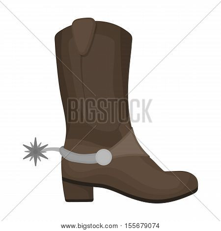Cowboy's boots icon in cartoon style isolated on white background. USA country symbol vector illustration.