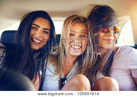 Three Multiracial Young Woman Friends