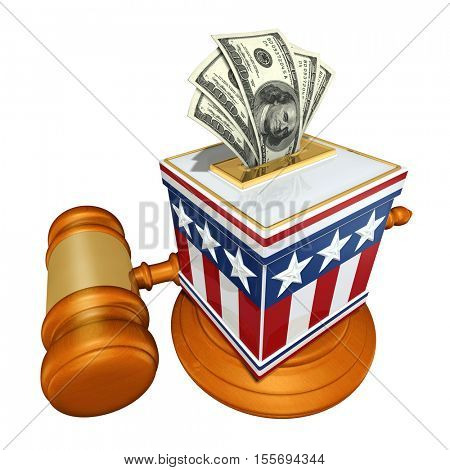 Vote Election Concept With Money Ballots 3D Illustration