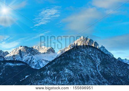 Winter  Sunshiny Mountain Top Landscape  (austria).