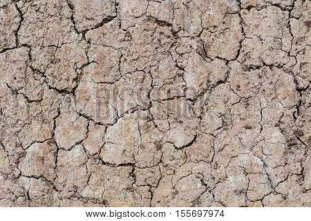 Cracked ground texture, earthquake texture and background