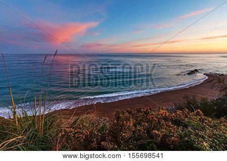 Sunrise Ocean View From Beach.