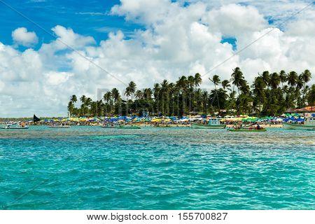 Porto de Galinhas beach located in Pernambuco State, Brazil