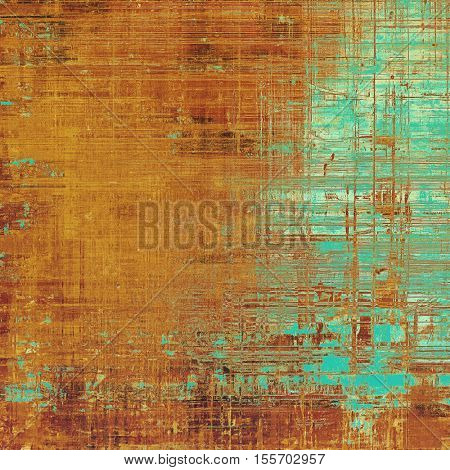Vintage background in scrap-booking style, faded grunge texture with different color patterns: yellow (beige); brown; blue; red (orange); cyan