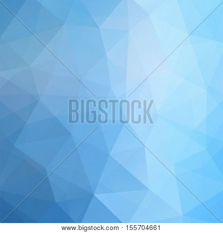 Abstract Polygonal Vector Background. Blue Geometric Vector Illustration. Creative Design Template.