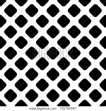 Rhombus geometric seamless pattern. Fashion graphic background design. Modern stylish abstract monochrome texture. Template for prints textiles wrapping wallpaper website Stock VECTOR illustration