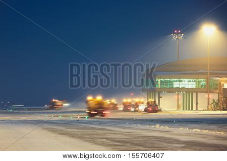 Airport During The Snowstorm