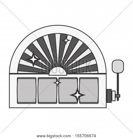 silhouette slot machine with lever vector illustration