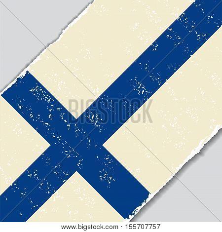 Finnish grunge flag diagonal background. Vector illustration.