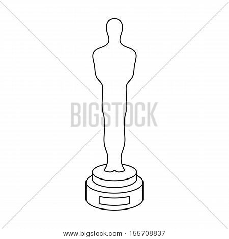 Academy award icon in outline style isolated on white background. Films and cinema symbol vector illustration.